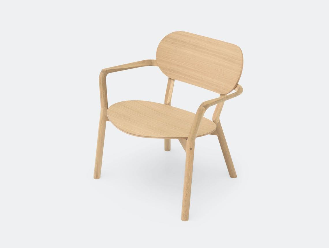 Karimoku Castor Low Chair Oak Big Game