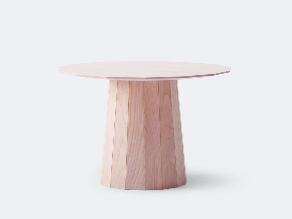 Colour Wood Low Table Pink image