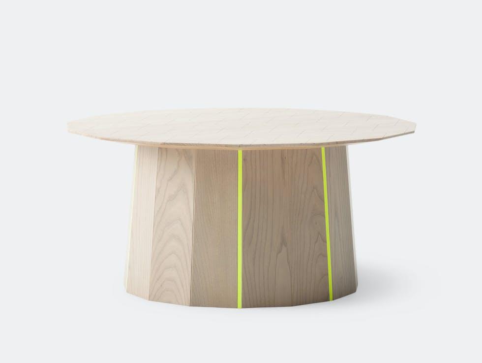 Colour Wood Low Table Plain Grid image