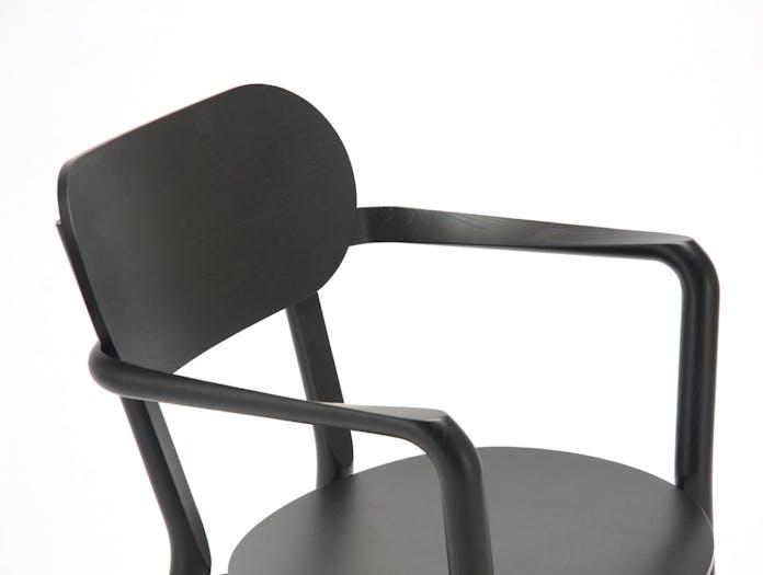 Karimoku Castor Low Chair Black Detail Big Game