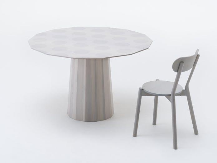 Karimoku Colour Wood Dining Table Gray Dot 120 Castor Scholten Baijings