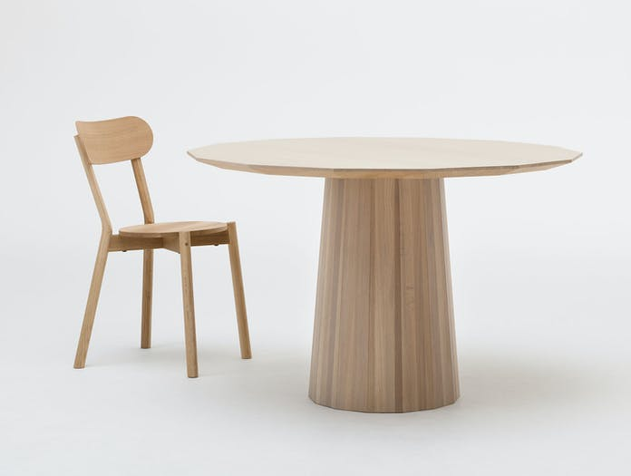 Karimoku Colour Wood Dining Table Pale Natural 120 Castor Scholten Baijings