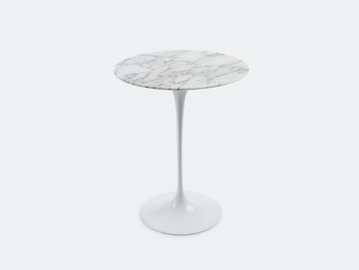 Knoll Eero Saarinen Side Table White Carrara Marble