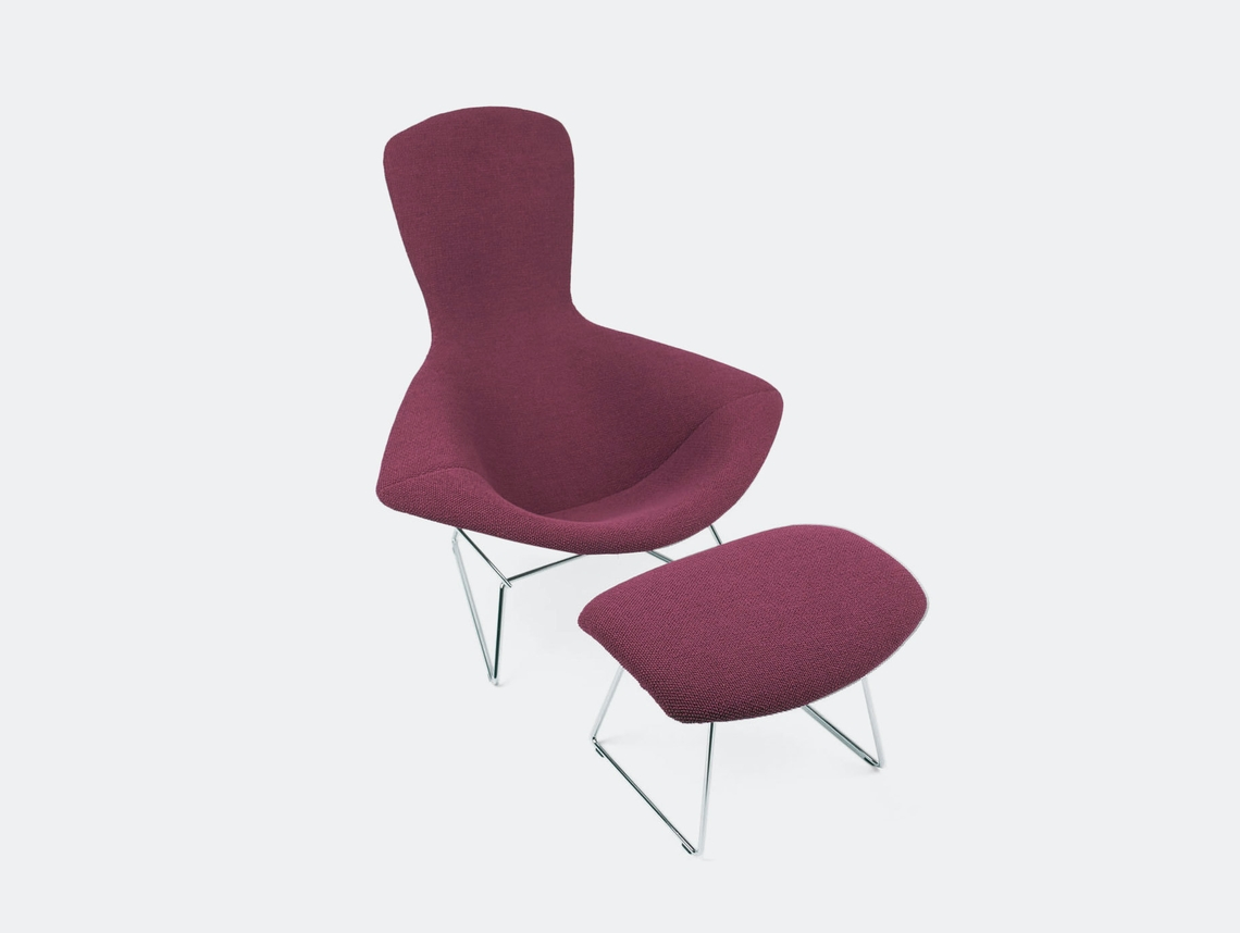 Knoll Harry Bertoia Bird Chair And Footstool
