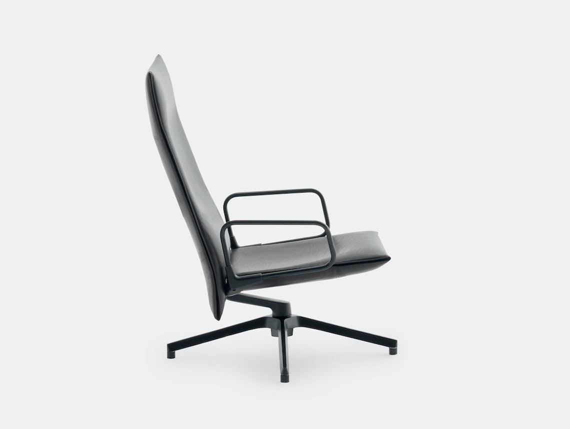 Knoll Pilot Lounge Chair High Black Arms Edward Barber Jay Osgerby