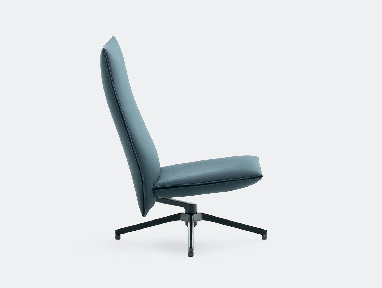 Knoll Pilot Lounge Chair High Blue Edward Barber Jay Osgerby