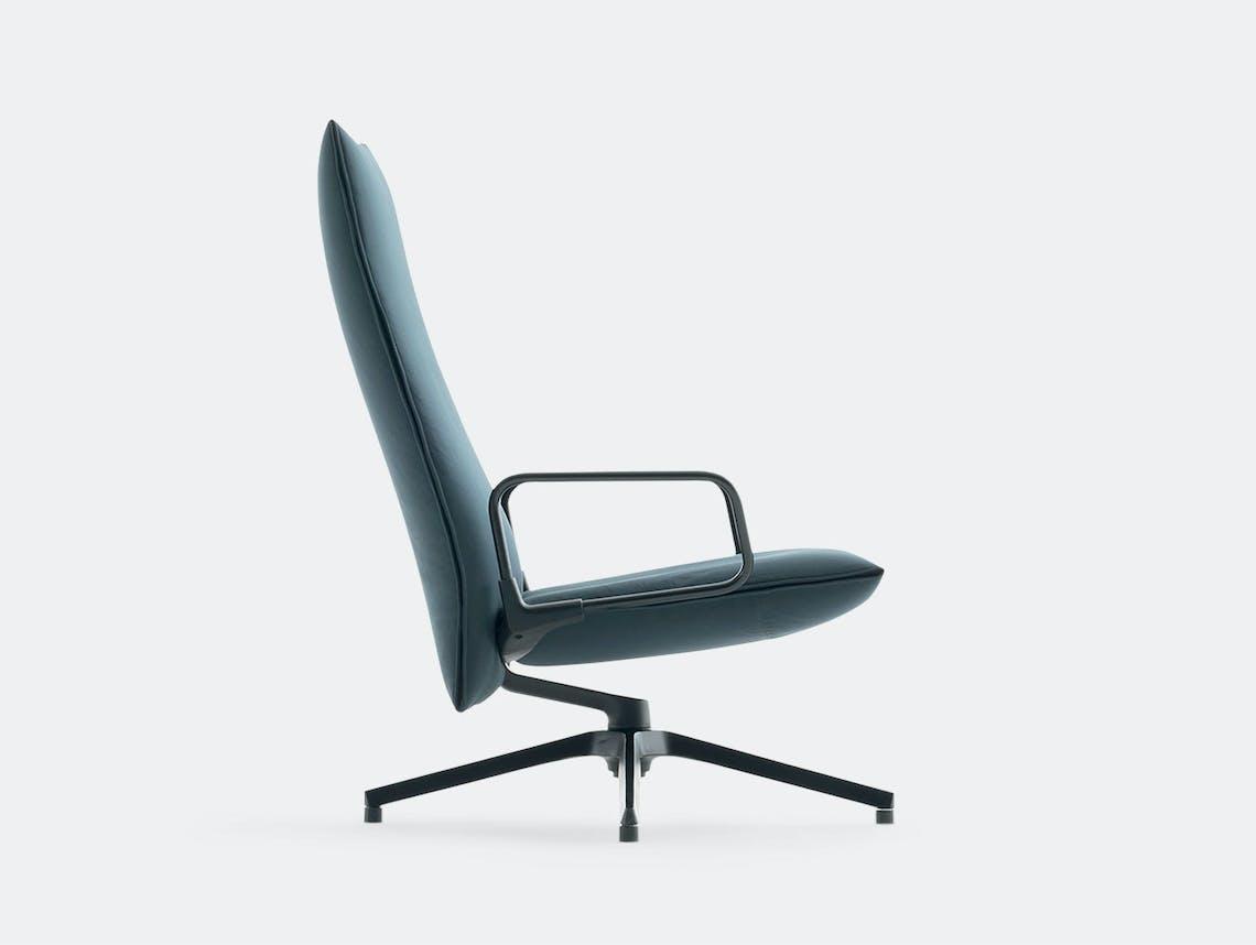 Knoll Pilot Lounge Chair High Blue Arms Edward Barber Jay Osgerby