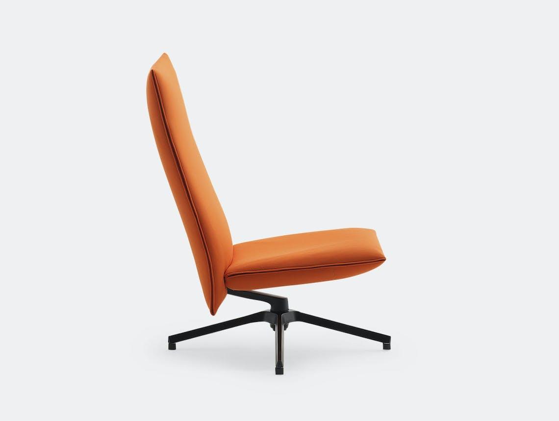 Knoll Pilot Lounge Chair High Orange Edward Barber Jay Osgerby