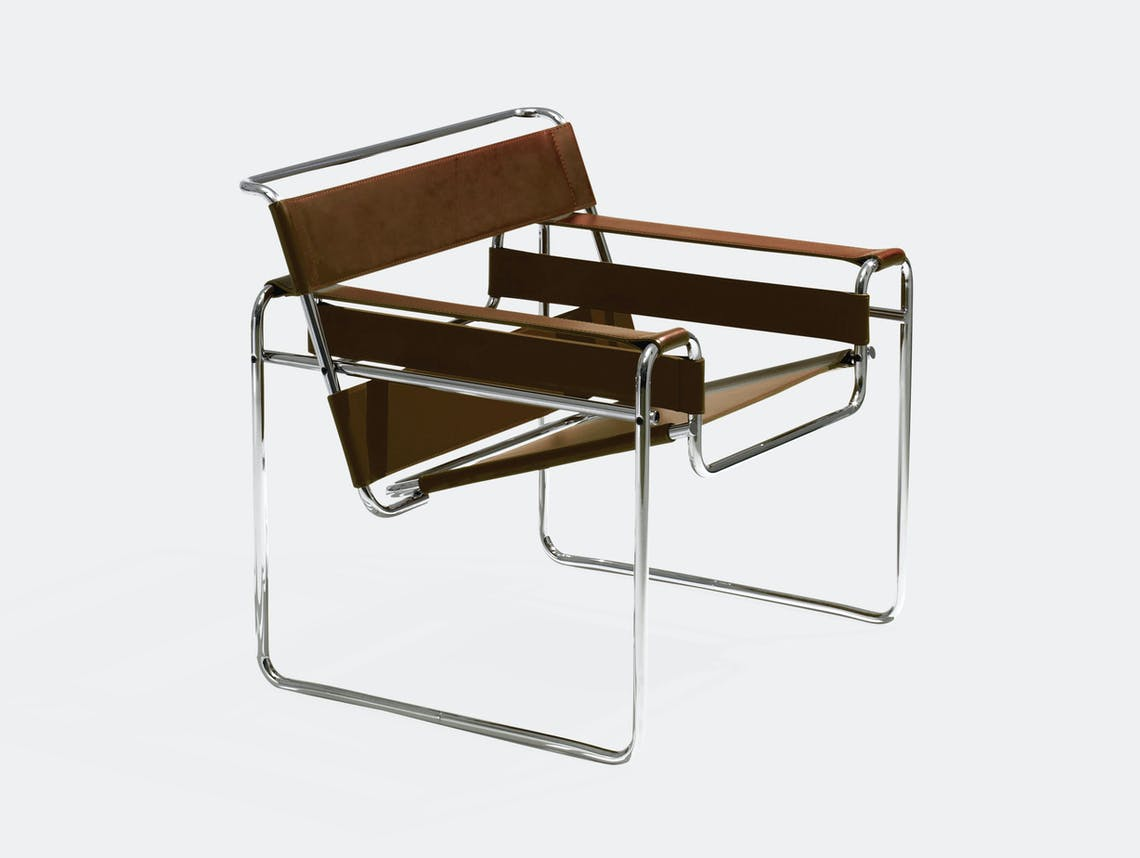 Knoll Wassily Chair Brown Marcel Breuer