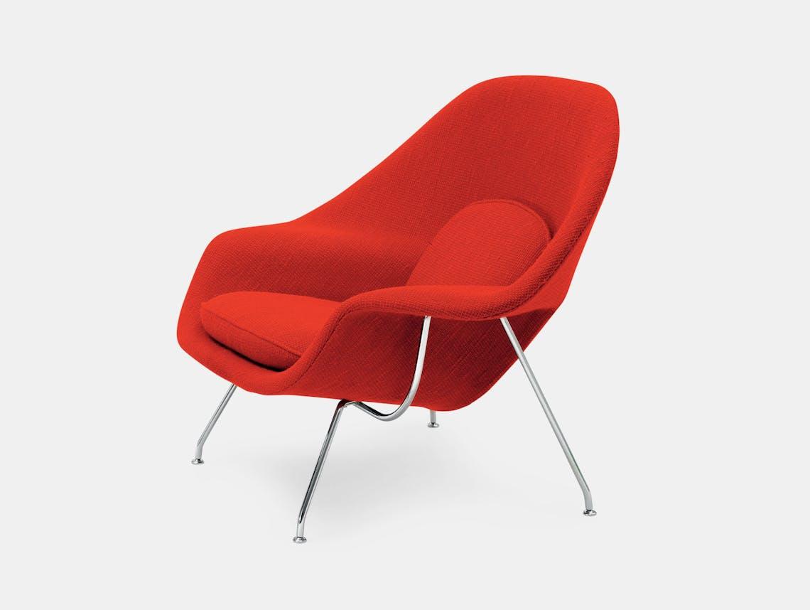 Knoll Womb Chair Red Eero Saarinen