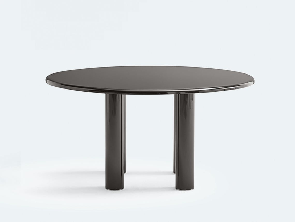 Knoll smalto round table black