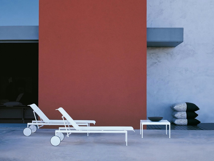 Knoll 1966 Outdoor Chaise White 2 Richard Schultz