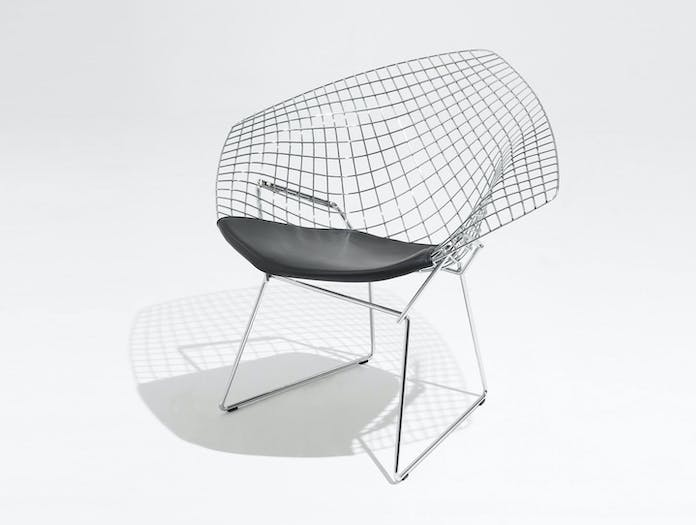 Knoll Harry Bertoia Diamond Chair Seat Upholstered Front