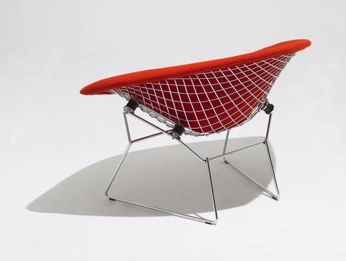 Knoll Harry Bertoia Diamond Chair Upholstered Back