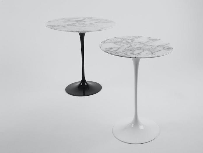 Knoll Saarinen Tulip Side Tables Carrara Marble
