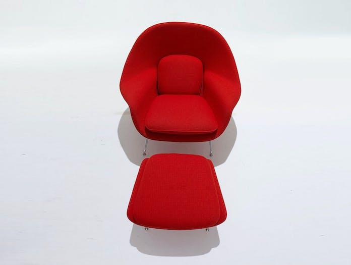 Knoll Womb Chair And Ottoman Eero Saarinen