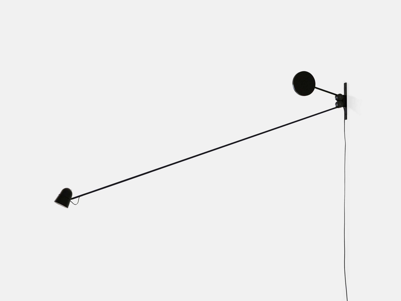 Luceplan Counterbalance Wall Light Black Daniel Rybakken