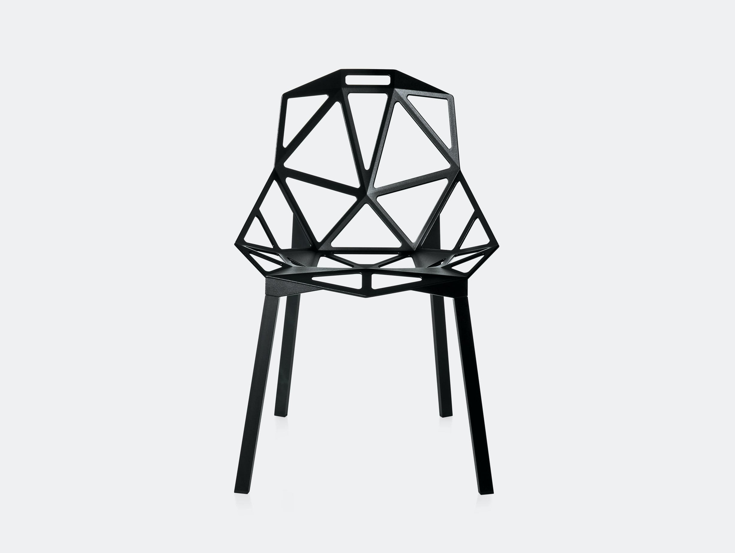 Magis Chair One Black Front Konstantin Grcic