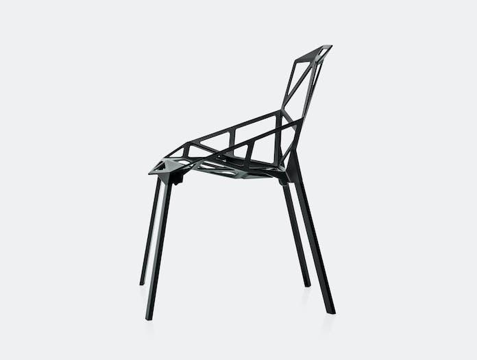 Magis Chair One Black Side Konstantin Grcic