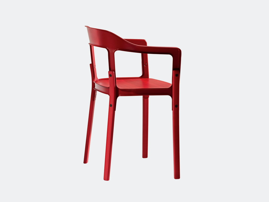 Magis Steelwood Chair Red Ronan And Erwan Bouroullec