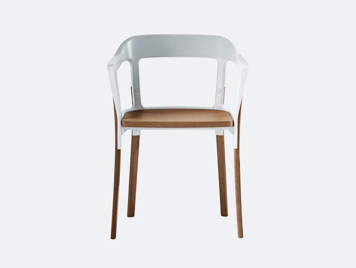 Magis Steelwood Chair White And Beech Ronan And Erwan Bouroullec