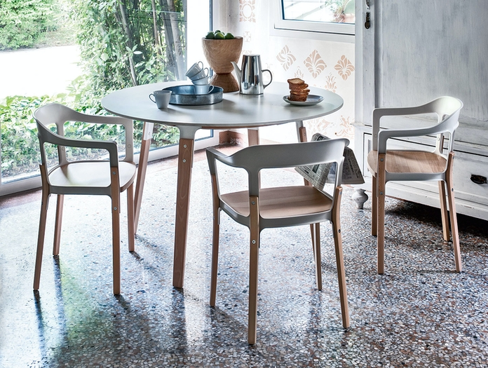 Magis Steelwood Chair White Beech Table Ronan And Erwan Bouroullec