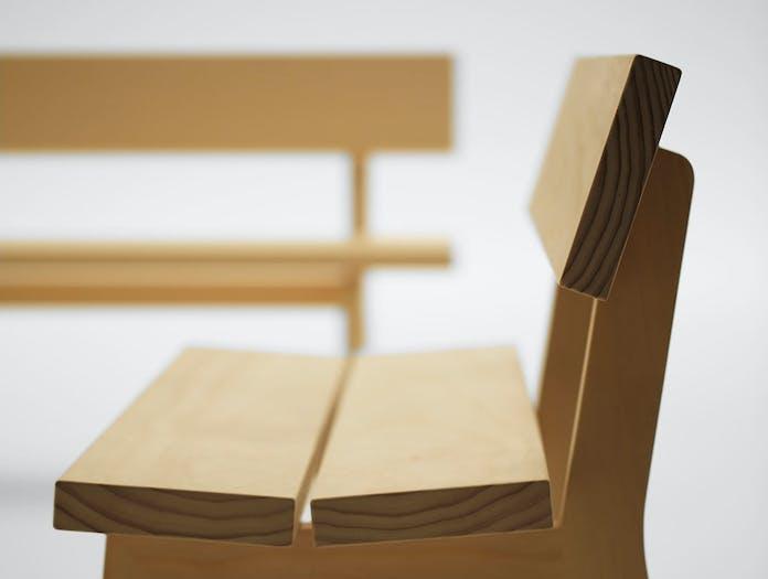 Maruni botan bench 120 pine detail