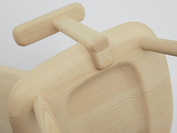 Maruni fugu chair ash detail arms