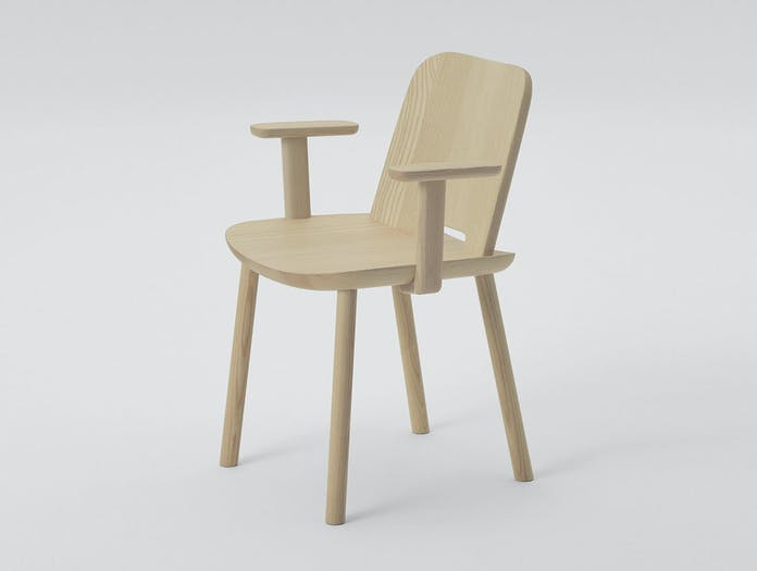 Maruni fugu chair ash with arms 2