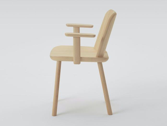 Maruni fugu chair ash with arms side