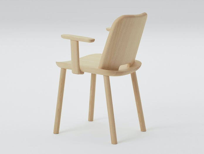 Maruni fugu chair ash with arms