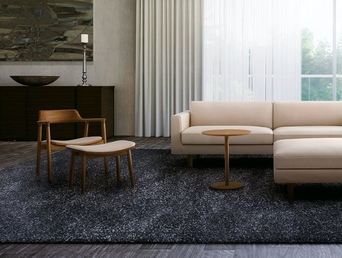 Maruni hiroshima lounge chair ottoman
