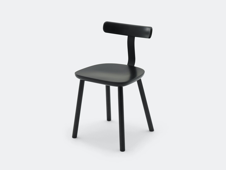 Maruni T Chair Maple Black Jasper Morrison