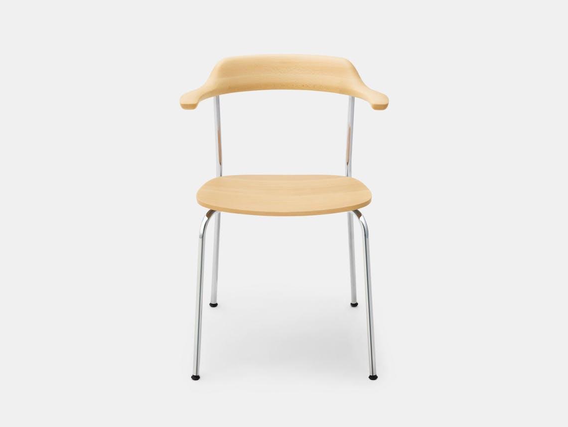 Maruni Hiroshima Stackable Chair Hr 1601 Armchair Stk Beech Naoto Fukasawa