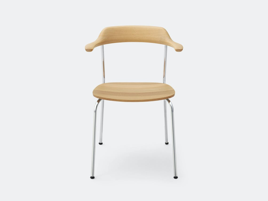 Maruni Hiroshima Stackable Chair Hr 1604 Armchair Stk Oak Naoto Fukasawa
