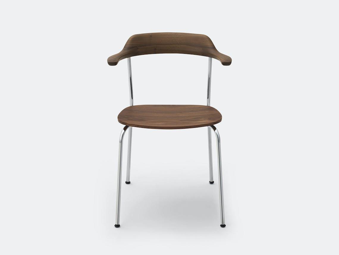 Maruni Hiroshima Stackable Chair Hr 1607 Armchair Stk Walnut Naoto Fukasawa
