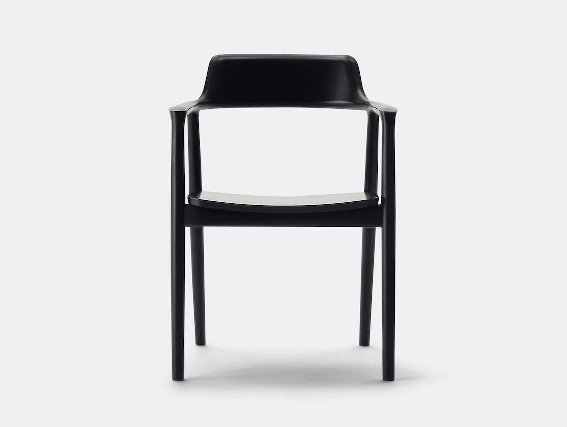 Maruni Hiroshima Armchair Beech Mat Black Naoto Fukasawa