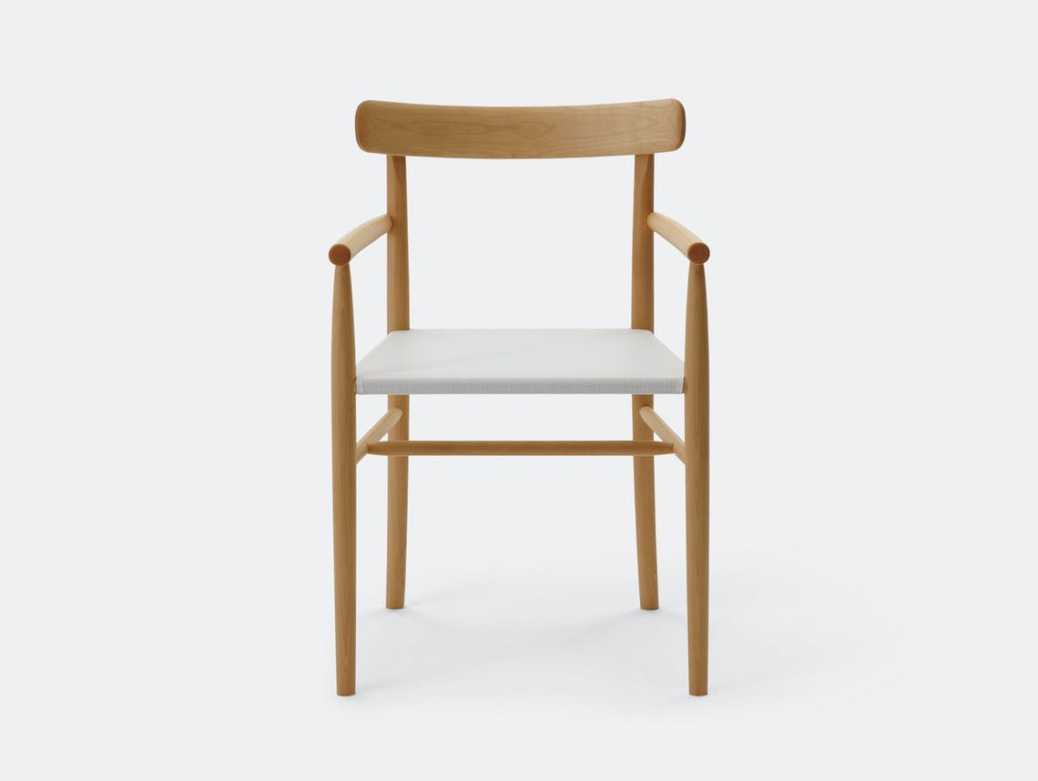 Maruni Lightwood Armchair Front Jasper Morrison
