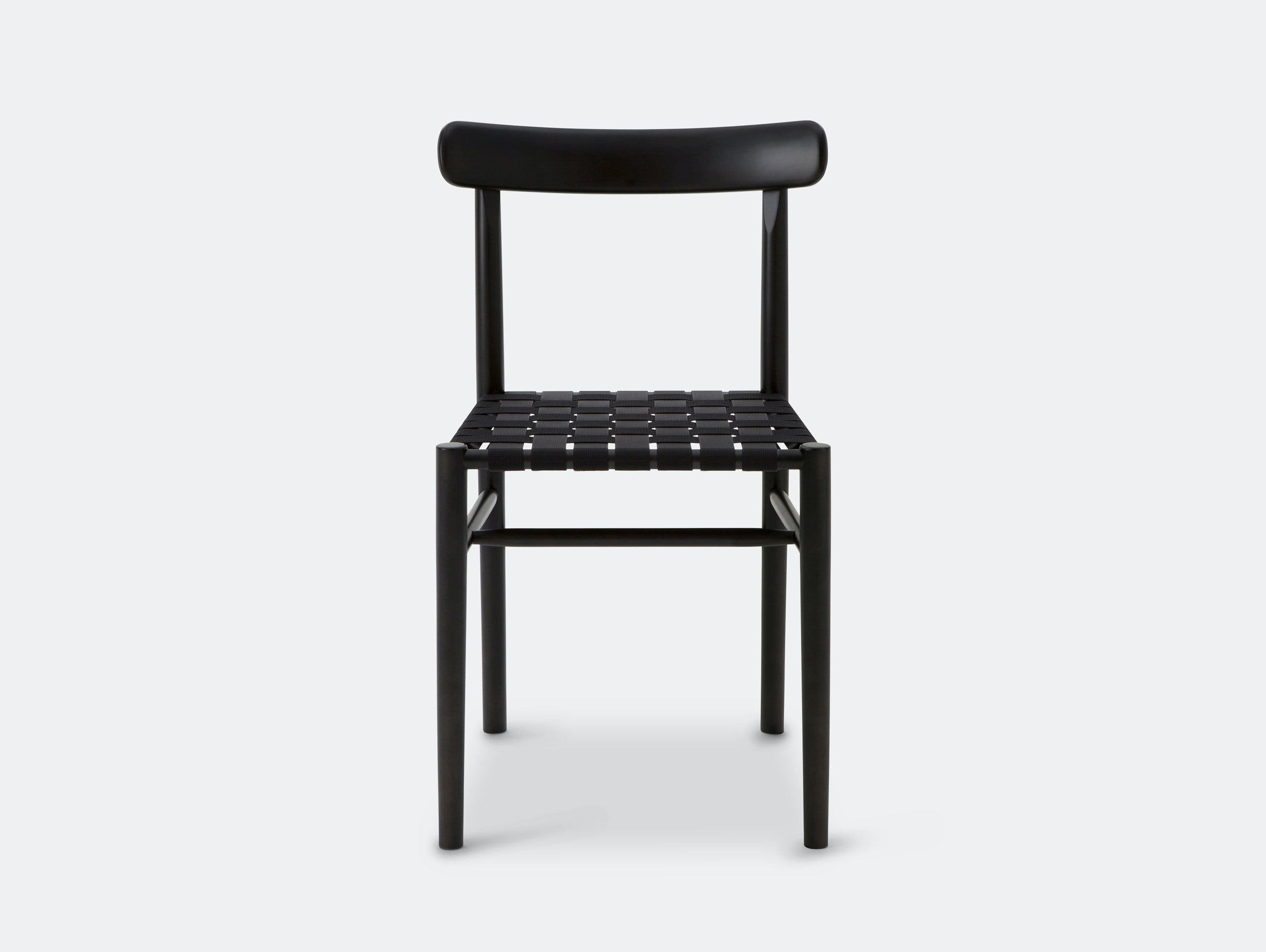 Maruni Lightwood Chair Black Maple Black Webbing Jasper Morrison