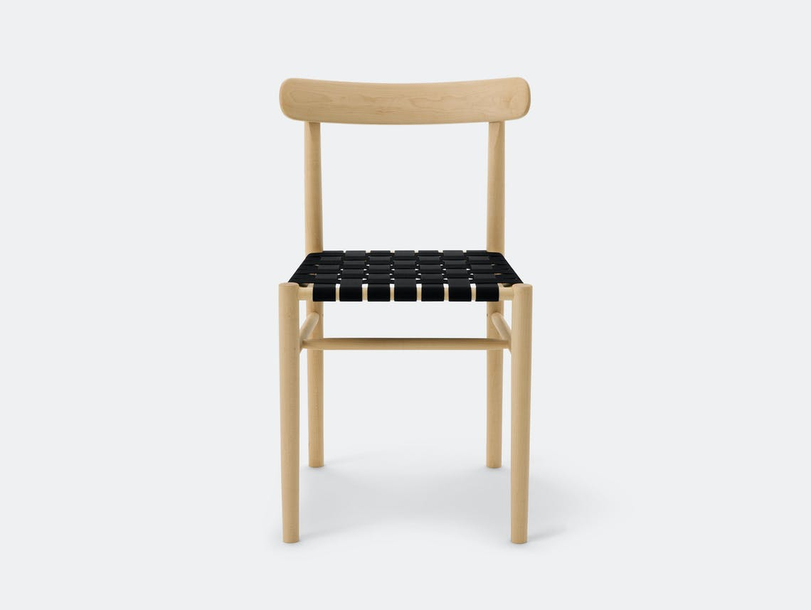 Maruni Lightwood Chair Maple Black Webbing Jasper Morrison
