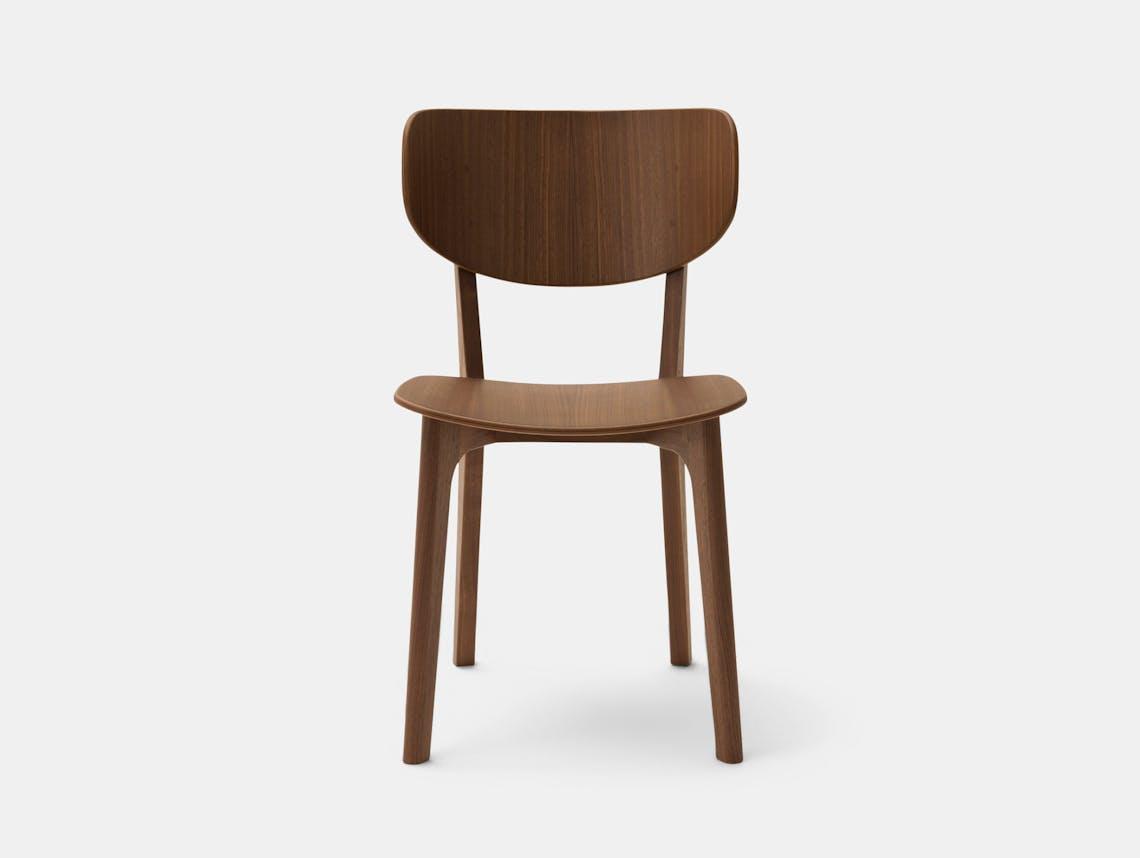 Maruni Roundish Chair Walnut Naoto Fukasawa