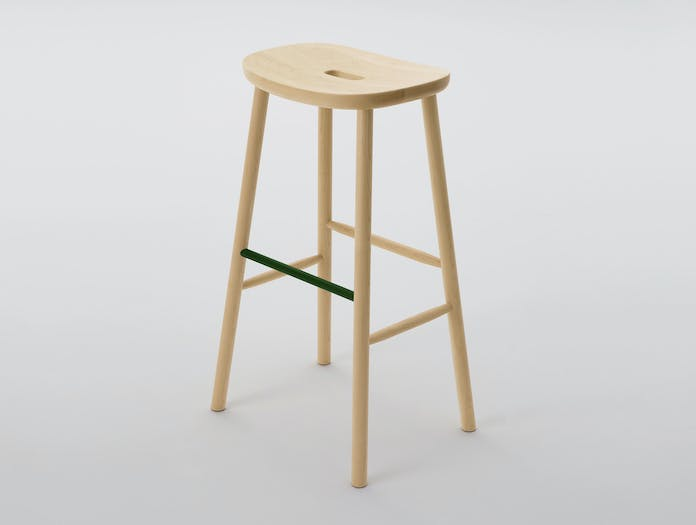 Maruni O Stool H Maple