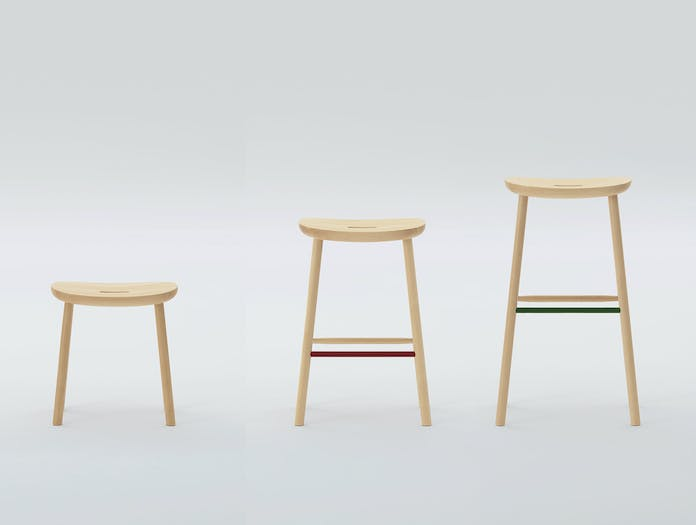 Maruni O Stool Maple