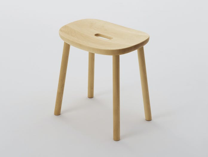 Maruni O Stool Maple Low 1