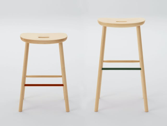 Maruni O Stools Maple