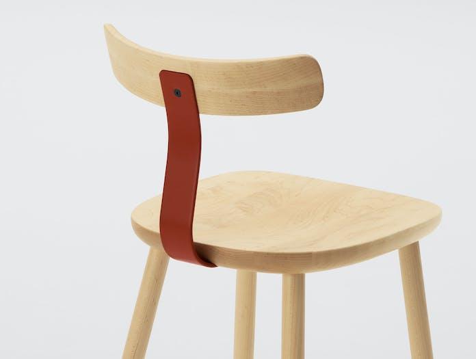 Maruni T 1603 Chair Maple Detail