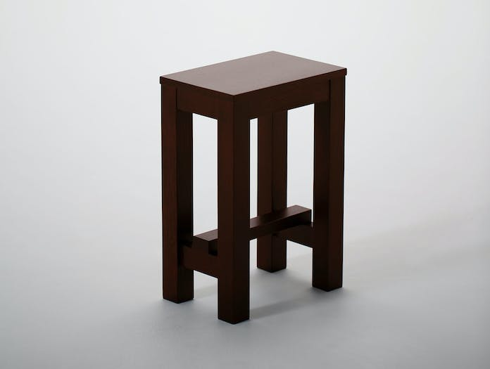 Maruni Asian Stool Oak 2