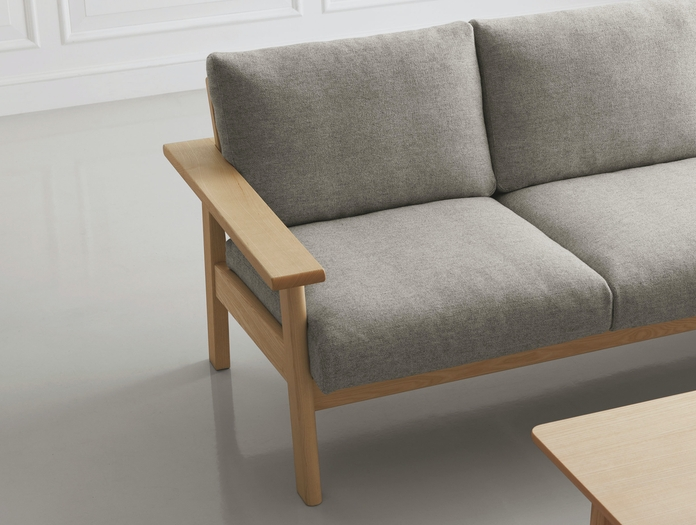 Maruni Bruno 3 Seater Sofa Ash Detail
