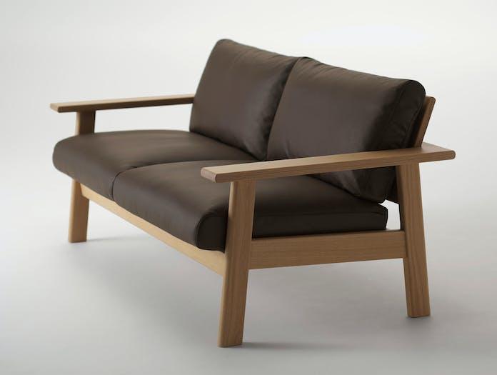 Maruni Bruno 2 Seater Sofa Oak