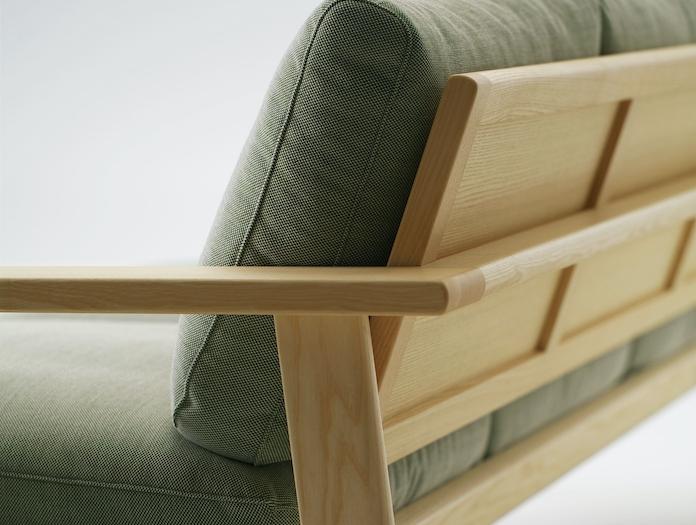 Maruni Bruno 3 Seater Sofa Ash Back Detail